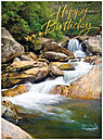 Peaceful Stream Birthday Card A3027U-X