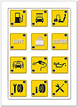 Birthday Signs Card A3028U-X