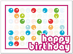 Bright Dots Birthday Card A3034U-Y