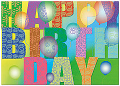 Birthday Pattern Card A3039D-Y