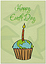 Earth Day Cupcake Card A3044KW-X