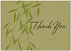 Bamboo Thank You Card A3046KW-X