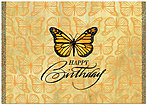 Birthday Monarch Card A3047KW-X