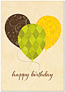 Three Balloons Birthday Card A3049KW-X