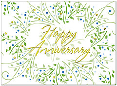 Anniversary Wreath Card A3061U-X