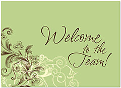Welcome Flourish Card A3066U-Y