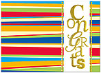 Colorful Congrats Card A3069D-X