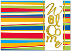 Colorful Welcome Card A3070D-X