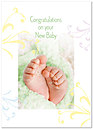 Tiny Feet Baby Card A3073D-Y