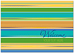 Welcome Stripes Card D3074D-V