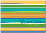 Congratulations Stripes Card D3076D-V