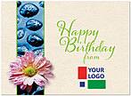 Birthday Zen Logo Card D3084U-V