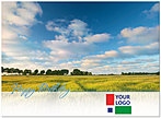 Blue Skies Logo Card D3086U-V
