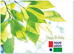 Green Leaves Logo Card D3087U-V