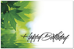 Green Leaves Birthday Postcard D3211P-Z