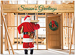 Santa Builder Holiday Card D3185U-A