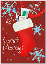 Dental Stocking Holiday Card D3193U-A