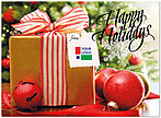 Holiday Present Logo Card D3198U-4B