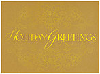 Golden Greetings Holiday Card H3143G-4A