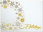 Snowflake Wreath Holiday Card H3144G-4A