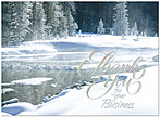 Snowy Stream Thank You Card H3145S-AAA