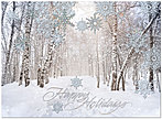 Wintery Walk Holiday Card H3148S-AAA