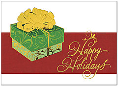 Contemporary Gift Holiday Card H3150G-AAA