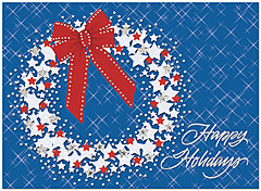 Star Wreath Holiday Card H3151S-AAA