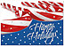 Patriotic Peppermint Holiday Card H3178D-AA