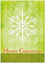 Simple Snowflake Christmas Card H3187KW-AA