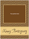 Brown Pattern Photo Card D3116U-4B