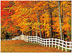 Autumn Fence Line Card H3092G-AAA
