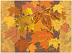 Shimmering Leaves Thanksgiving Card H3093G-AAA