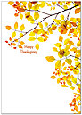 Bright Leaves Thanksgiving Card H3107KW-AA