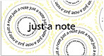 Just a Note Spirals Card A4261T-Z