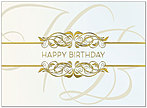 Golden Birthday Card A4000G-4W