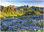 Mountain Majesty Birthday Card A4001G-W