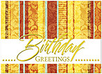 Fashionable Stripes Birthday Card A4003G-W