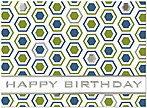 Modern Birthday Card A4004S-W
