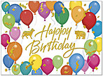 Colorful Wall Street Birthday Card A4006G-W