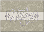 Elegant Swirl Birthday Card A4007S-W