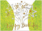 Celebration Stars Birthday Card A4008G-W