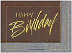 Stylish Birthday Card A4009G-W