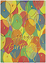 Bright Balloons Birthday Card A4010G-W