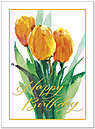 Birthday Tulips Card A4011G-W