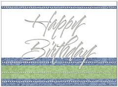 Dotted Birthday Card A4012U-X