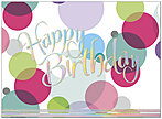 Birthday Bubbles Card A4014U-X
