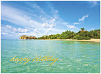 Paradise Birthday Card A4015U-X