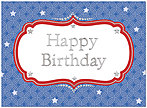 Patriotic Pattern Birthday Card A4021U-X