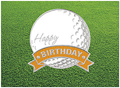 Golf Ball Birthday Card A4025U-X
